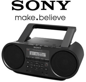 BLACK Sony Bluetooth Portable wireless Boombox ZS-RS60BT