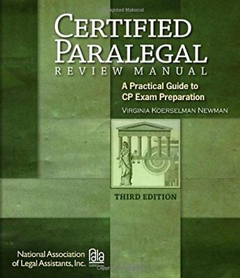 Certified Paralegal Review Manual by Virginia Newman ()