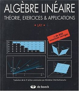 algebre lineaire theorie exercices et applications