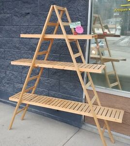 3 Shelf Collapsible Wooden Display Unit