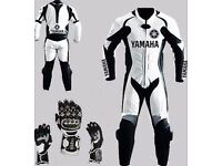 1pc or 2pc Yamaha Leather Motorbike Suits! Free gloves with every order!!!!