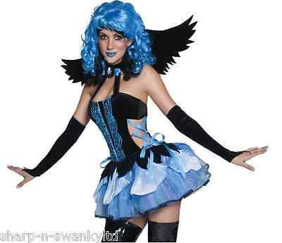 Tainted Fairy Pixie Halloween Fancy Dress Costume Outfit (Fallen Angel Outfit)