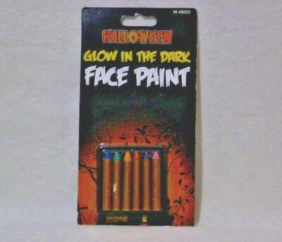 HALLOWEEN GLOW IN DARK FACE PAINT 6PCS IN - Halloween Glow Pack