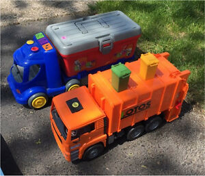 Kids toolbox truck and Recycling truck