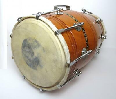 Dholak - Indische Trommel aus Holz mit Spann-Haken Hochwertig robuste Handarbeit