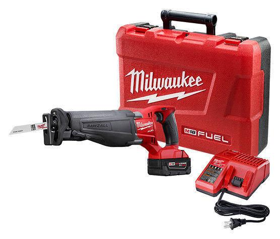 Milwaukee 2720-21 M18 Fuel Sawzall Reciprocating Saw Kit wih