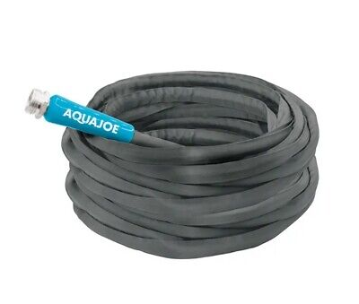 Ultra Flexible Kink Free Fiberjacket Garden Hose  100-Foot  Metal Fittings