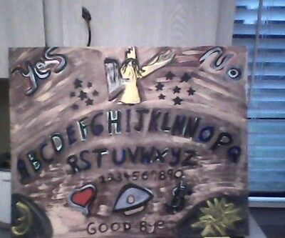 Vintage Ouija Board Painting by Linda Stamberger after Halloween sale 50% Off!