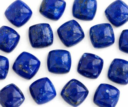 25pcs Natural Lapis lazuli  8mm Cushion  Cabochon Loose Gemstone