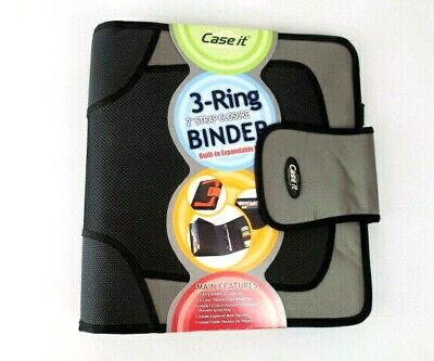 Case-it Open Tab Closure 2-inch Binder Cds Tab File Gray School Vintage