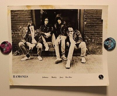 Original RAMONES (1980) Press/Publicity PHOTO (published) joey dee dee johnny