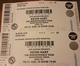 X2 KEVIN HART THE IRRESPONSIBLE TOUR MANCHESTER ARENA 31ST AUG