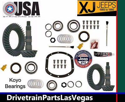 USA Standard Jeep Cherokee XJ 85-95 Package Gear Sets & Pinion Kits 4.88 Ratio