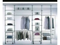 Ikea stoleman clothing rail and shelving system