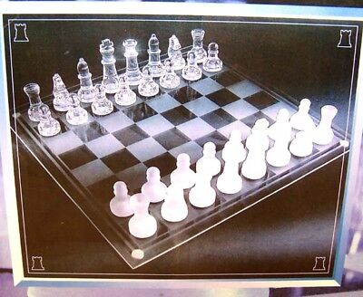 new GLASS CHESS SET 8