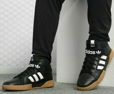 ADIDAS VRX CUP MID BOOT BLACK WHITE GUM TRAINERS SIZE 10 EUR 44 2/3 RRP £74.95