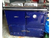 Raeburn Nouvelle Range Cooker/Boiler in blue. Aga