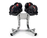 BOWFLEX ADJUSTABLE DUMBBELLS WITH STAND!!!