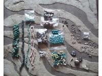 Job Lot of Beads, Clasps & Charms for Jewellery Making
