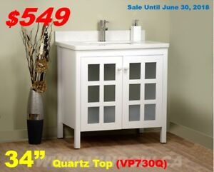 Bath Vanity, LED Mirror, Faucet, Shower--Great Deals-Save $$$