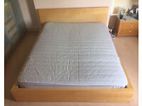 Kingsize bed with mattress and topper IKEA Malm