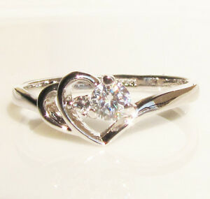 1-46CT-Heart-Swarovski-Crystal-GP-Wedding-Ring-Engagement-Promise-Christmas-Gift