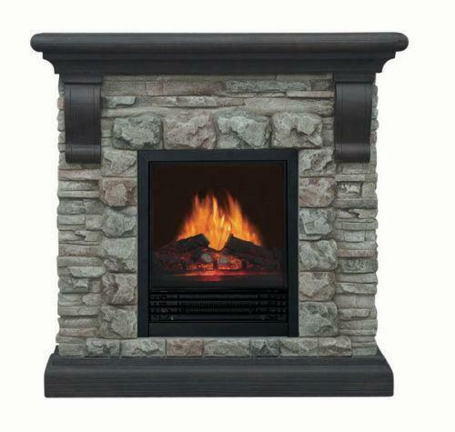 stone electric fireplace ebay