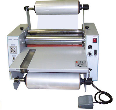 New 15 Tabletop Hot Roll Laminator Singledual Sided Thermal Cold Laminating