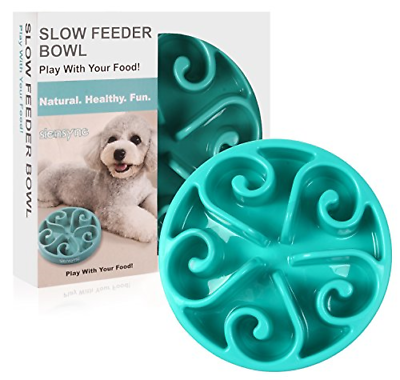 Large Dog Feeder Pet Bowl Slow Eating Stop Pets Food Stow Feeding Healthy Eat