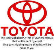 2003 Toyota 4Runner Owner Manual