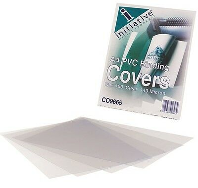 Binding Covers Clear Report Covers A4 PVC Document Comb Slide Binders 100pk