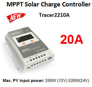 Tracer 20 Amp MPPT Solar Charge Controlar With Screen Display