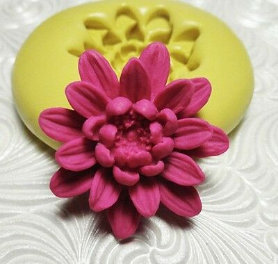 Silicone Resin Polymer Clay Fimo Fondant Flexible Push Mold LILY FLOWER 378M