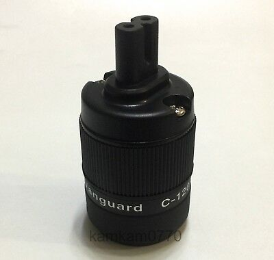Vanguard Audio Grade CRYO 24K Gold Plated Figure 8 IEC C7 Plug Female Connector