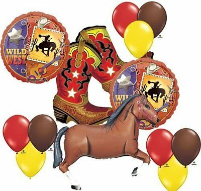 Wild West Cowboy Boots Horse Party Supplies Balloons Decor