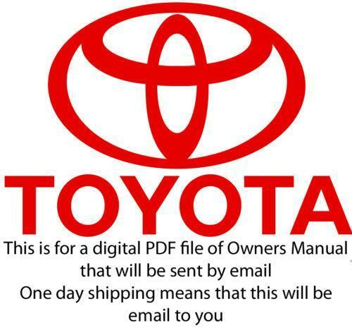 Toyota tacoma owners manual ebay freerunsca Choice Image