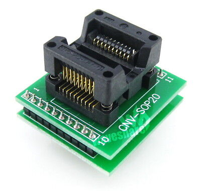 Sop20 So20 Soic20 5.4width 1.27pitch Ic Test Socket Programming Adapter