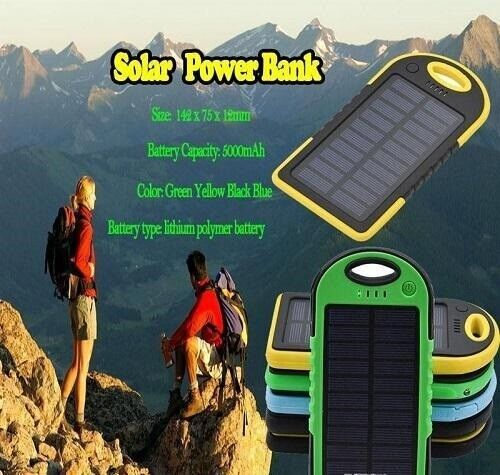 5000mAh solar power Charger and Battery solar panel waterpro