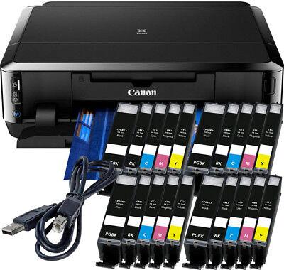 Canon PIXMA IP7250 Drucker + USB + 20x XL TINTE -CD-Druck Duplex Foto WLAN