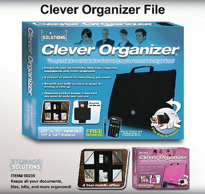 As Seen On Tv Clever Organizer Pink File And Organize For School Or Work
