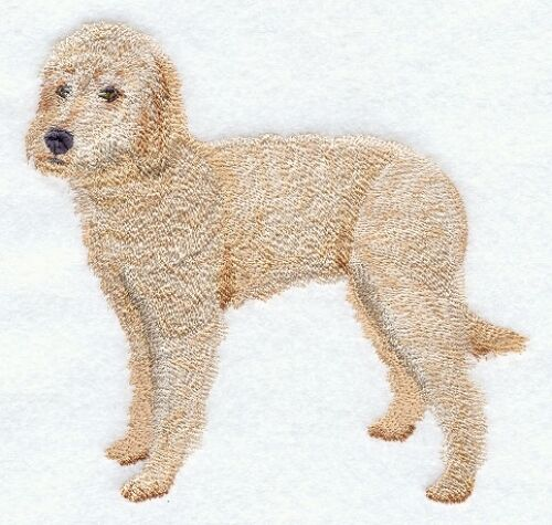 Large Embroidered Zippered Tote - Labradoodle C9652