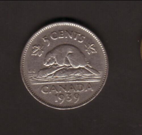 Canada--1939--5 Cents--King George VI/Beaver