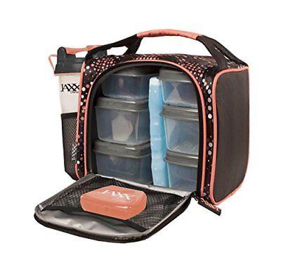Jaxx 944Ffjx1121 Melon Dot Fitpak Insulated Meal Prep Bag