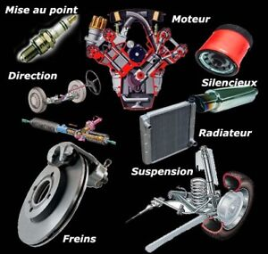 Suspension,freins,direction,mise au point,moteur,silencieux