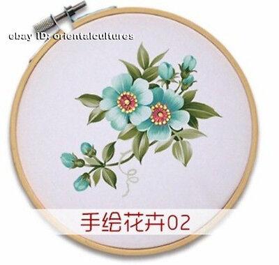 (Chinese 100% real natural silk thread,hand su embroidery handkerchief kits)