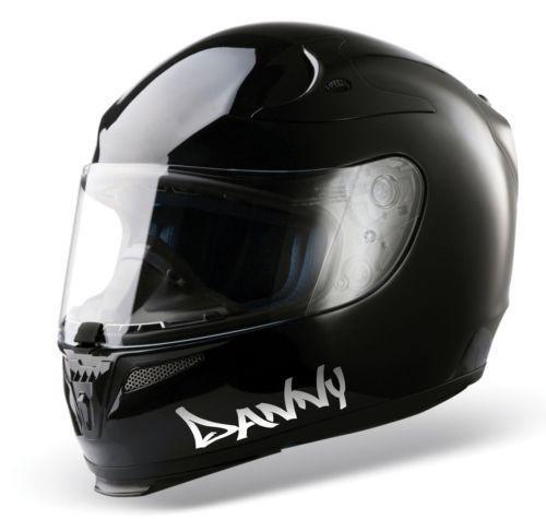 Custom Helmet Stickers EBay - Motorcycle helmet designs custom stickers