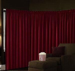 Red Velvet Curtains Ebay