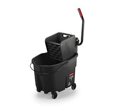 Wringer System - Rubbermaid Commercial WaveBrake Mopping System Bucket and Side-Press Wringer Com