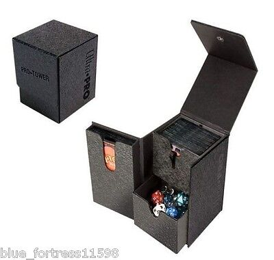 PRO-TOWER DECK BOX ULTRA PRO FOR MTG OR POKEMON HOLDS DICE AND OVERSIZED (Ultra Pro Mtg Pro Tower Deck Box)