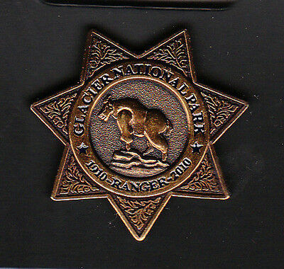 GLACIER NATIONAL PARK 1910-2010 RANGER BADGE LAPEL PIN